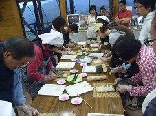 前日の祭り寿司作り体験